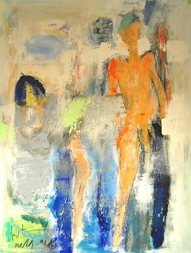 Peter Feichter, O/T, Abstraktes, Menschen: Porträt, Neo-Expressionismus, Abstrakter Expressionismus