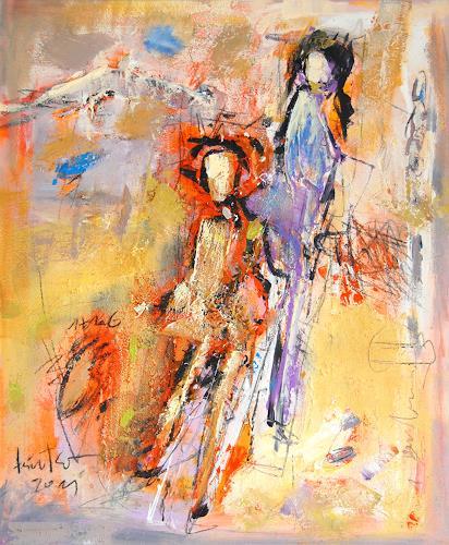 Peter Feichter, O/T, Abstraktes, Abstrakter Expressionismus