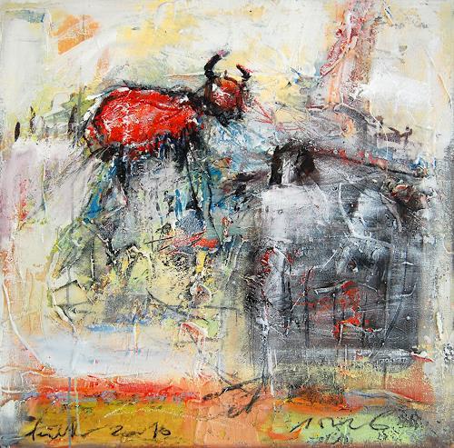 Peter Feichter, O/T, Abstraktes, Neo-Expressionismus, Abstrakter Expressionismus