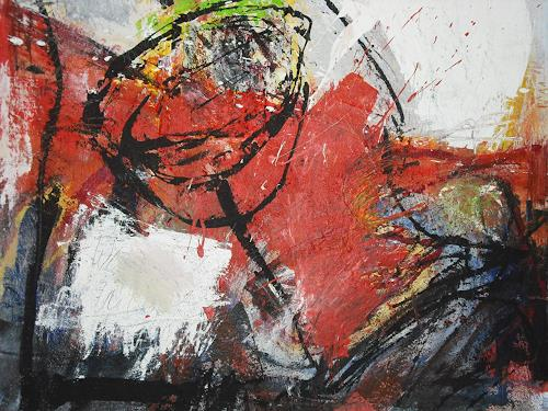 Peter Feichter, O.T, Abstraktes, Abstrakter Expressionismus, Expressionismus, Moderne