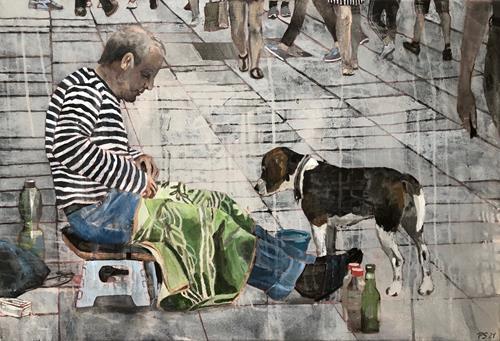 Petra Seibert, Auf der Kö, Menschen, Tiere, Gegenwartskunst
