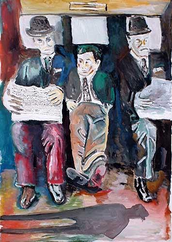 Rudolf Lehmann, Superiors and Worker, Arbeitswelt, Diverse Gefühle, Pluralismus, Abstrakter Expressionismus