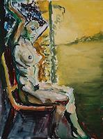 Rudolf-Lehmann-Akt-Erotik-Akt-Frau-Gefuehle-Stolz-Gegenwartskunst-Neo-Expressionismus