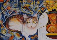 Rudolf-Lehmann-Diverse-Tiere-Fantasie-Gegenwartskunst--Neo-Expressionismus