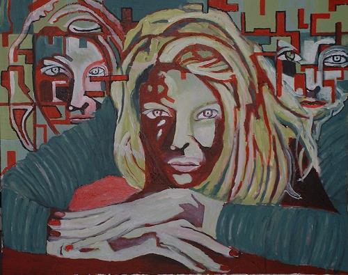 Rudolf Lehmann, Clarise, Bauten: Hochhaus, Gesellschaft, Neo-Expressionismus, Abstrakter Expressionismus
