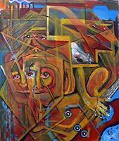 Rudolf-Lehmann-Diverse-Musik-Abstraktes-Gegenwartskunst--Neo-Expressionismus