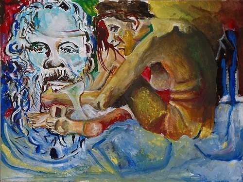 Rudolf Lehmann, Sokrates & Xanthippe, Mythologie, Diverse Gefühle, Neo-Expressionismus