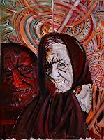 Rudolf-Lehmann-Menschen-Frau-Gefuehle-Trauer-Gegenwartskunst--Neo-Expressionismus