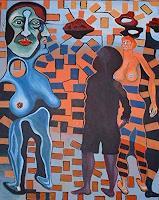 Rudolf-Lehmann-Diverse-Menschen-Fantasie-Gegenwartskunst--Neo-Expressionismus
