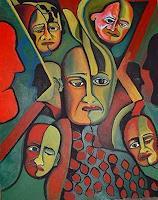 Rudolf-Lehmann-Menschen-Gesichter-Fantasie-Gegenwartskunst--Neo-Expressionismus