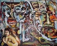 Rudolf-Lehmann-Gesellschaft-Menschen-Gruppe-Gegenwartskunst--Neo-Expressionismus
