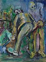 Rudolf-Lehmann-Arbeitswelt-Ernte-Gegenwartskunst--Neo-Expressionismus