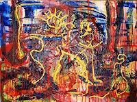 Rudolf-Lehmann-Abstraktes-Skurril-Gegenwartskunst--Neo-Expressionismus