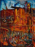 Rudolf-Lehmann-Architektur-Abstraktes-Gegenwartskunst--Neo-Expressionismus