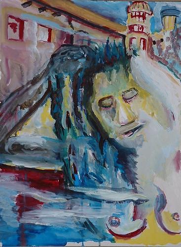 Rudolf Lehmann, Harem, Bewegung, Akt/Erotik: Akt Frau, Neo-Expressionismus