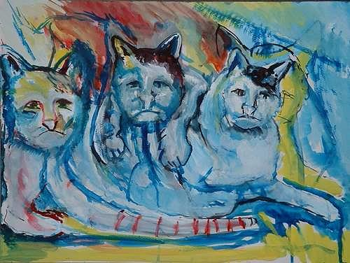 Rudolf Lehmann, Wir fühlen, Tiere: Land, Diverse Gefühle, Neo-Expressionismus