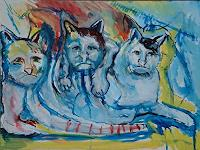 Rudolf-Lehmann-Tiere-Land-Diverse-Gefuehle-Gegenwartskunst--Neo-Expressionismus