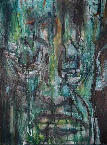 Rudolf Lehmann, Green, Gefühle: Trauer, Menschen: Mann, Neo-Expressionismus