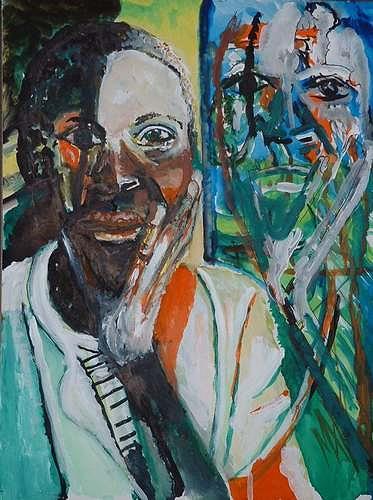 Rudolf Lehmann, Afrikanerin, Menschen: Frau, Gefühle: Depression, Neo-Expressionismus