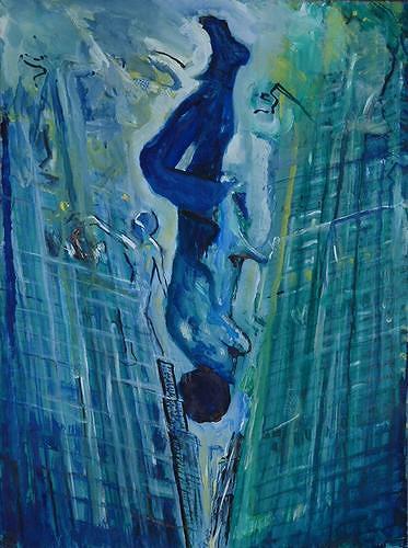 Rudolf Lehmann, Der Fall, Bauten: Hochhaus, Gefühle: Angst, Neo-Expressionismus