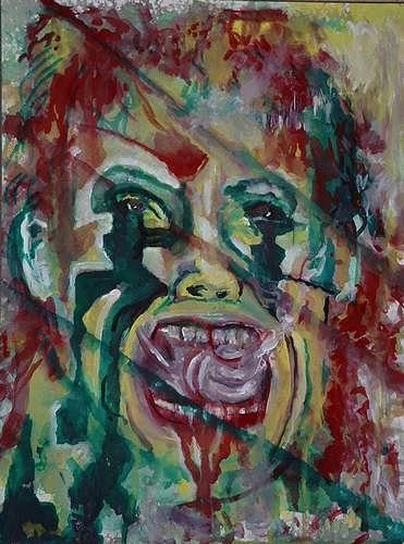 Rudolf Lehmann, Joker, Skurril, Gesellschaft, Neo-Expressionismus