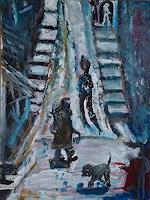 Rudolf-Lehmann-Wohnen-Dorf-Gefuehle-Geborgenheit-Gegenwartskunst--Neo-Expressionismus