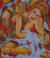 Rudolf-Lehmann-Menschen-Frau-Gefuehle-Freude-Gegenwartskunst--Pluralismus