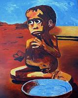Rudolf-Lehmann-Menschen-Kinder-Essen-Gegenwartskunst--Pluralismus