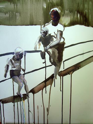 Michael Ebel, Im Park, Menschen: Familie, Abstrakte Kunst, Abstrakter Expressionismus