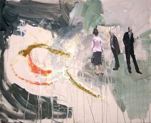 Michael Ebel, Kunstliebhaber (informell), Menschen: Gruppe, expressiver Realismus, Abstrakter Expressionismus