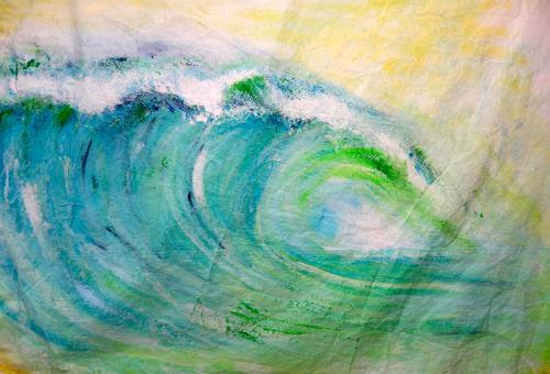 Sandra Frauchiger-Schlug, Hawaii Welle, Natur: Wasser, Moderne