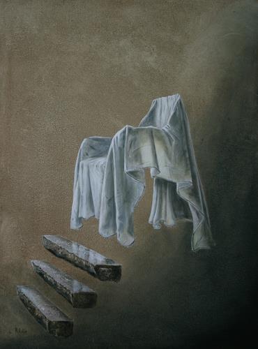 Lilie, Der heilige Stuhl, Stilleben, Realismus, Abstrakter Expressionismus