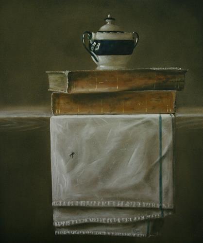 Lilie, übereinander, Stilleben, Realismus, Expressionismus