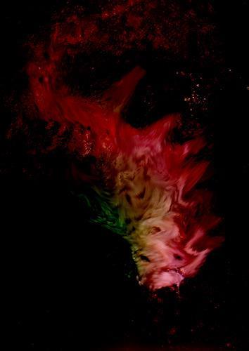 Rotraut Richter, Zauberfisch, Fantasie, Natur: Wasser, New Image Painting