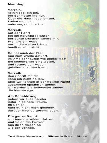 Rotraut Richter, Gedicht in Poem in www.miss-verstehen.de, Diverses, Gegenwartskunst
