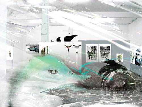 Rotraut Richter, Geflutete Ausstellung, Situationen, Skurril, New Image Painting, Abstrakter Expressionismus