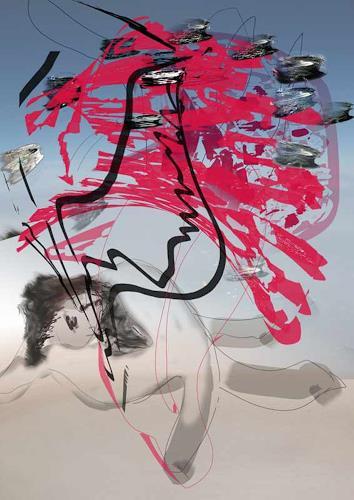 Rotraut Richter, W. mit Lustobjekt, Diverse Erotik, Freizeit, New Image Painting