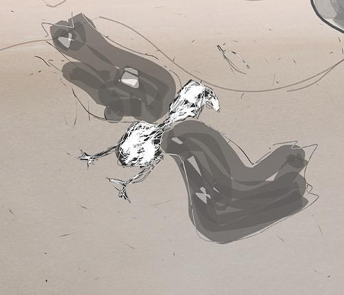 Rotraut Richter, Vogelinsekt, Diverse Tiere, Skurril, New Image Painting, Abstrakter Expressionismus