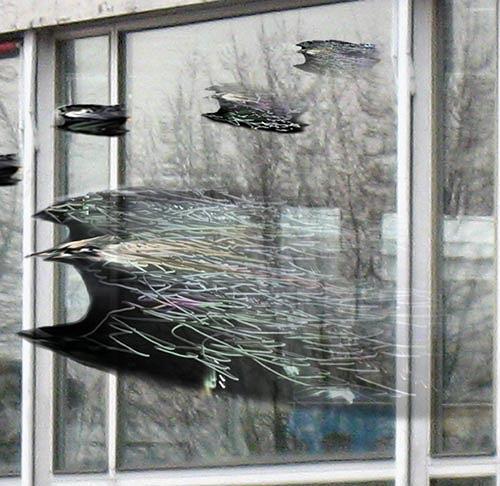 Rotraut Richter, Vögel im Brackweder Pavillon, Situationen, Skurril, New Image Painting, Abstrakter Expressionismus