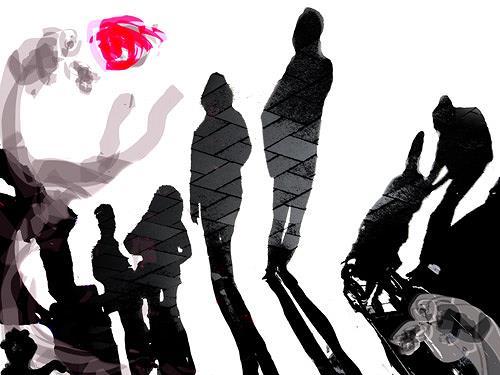 Rotraut Richter, Schattenspiele, Diverse Menschen, Situationen, Gegenwartskunst