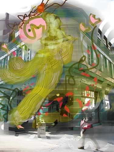 Rotraut Richter, Gaukler, Situationen, Skurril, New Image Painting