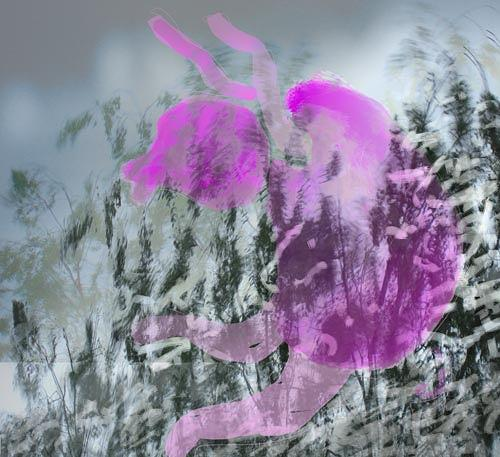 Rotraut Richter, Im Gras, Bewegung, Natur: Diverse, Gegenwartskunst