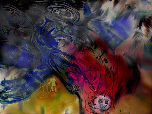 Rotraut Richter, Detmold 1, Situationen, Skurril, Gegenwartskunst, Abstrakter Expressionismus