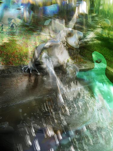 Rotraut Richter, Detmold 10, Märchen, Tiere: Wasser, Gegenwartskunst, Abstrakter Expressionismus