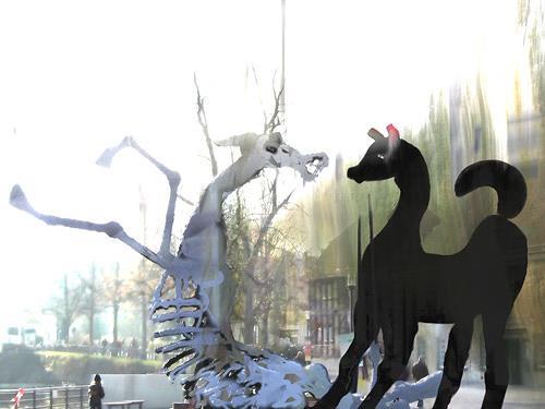 Rotraut Richter, Detmold 14 (apokalyptisches Pferd), Situationen, Skurril, New Image Painting
