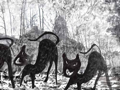 Rotraut Richter, Detmold 12 (Es brennt), Diverse Gefühle, Situationen, New Image Painting