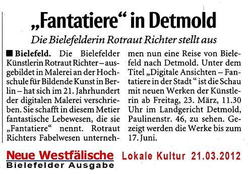 Rotraut Richter, NW - 21.03.12, Diverses, Gegenwartskunst