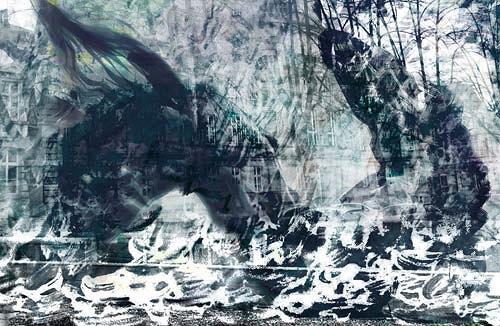 Rotraut Richter, Detmold 7 (vor dem Landgericht), Gefühle: Horror, Situationen, New Image Painting, Abstrakter Expressionismus