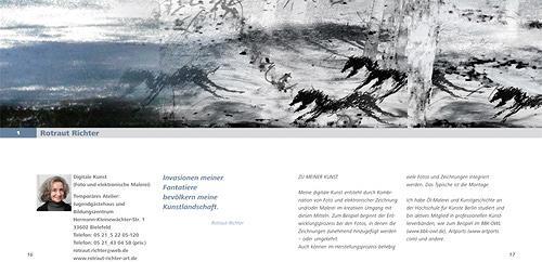 Rotraut Richter, Panoramabild - Katalogseite, Diverses, Natur: Diverse, New Image Painting