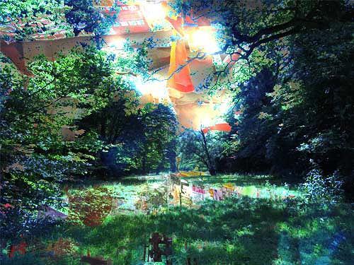 Rotraut Richter, Verzauberter dOCUMENTA 13 - Park, Diverse Landschaften, Situationen, Gegenwartskunst, Abstrakter Expressionismus
